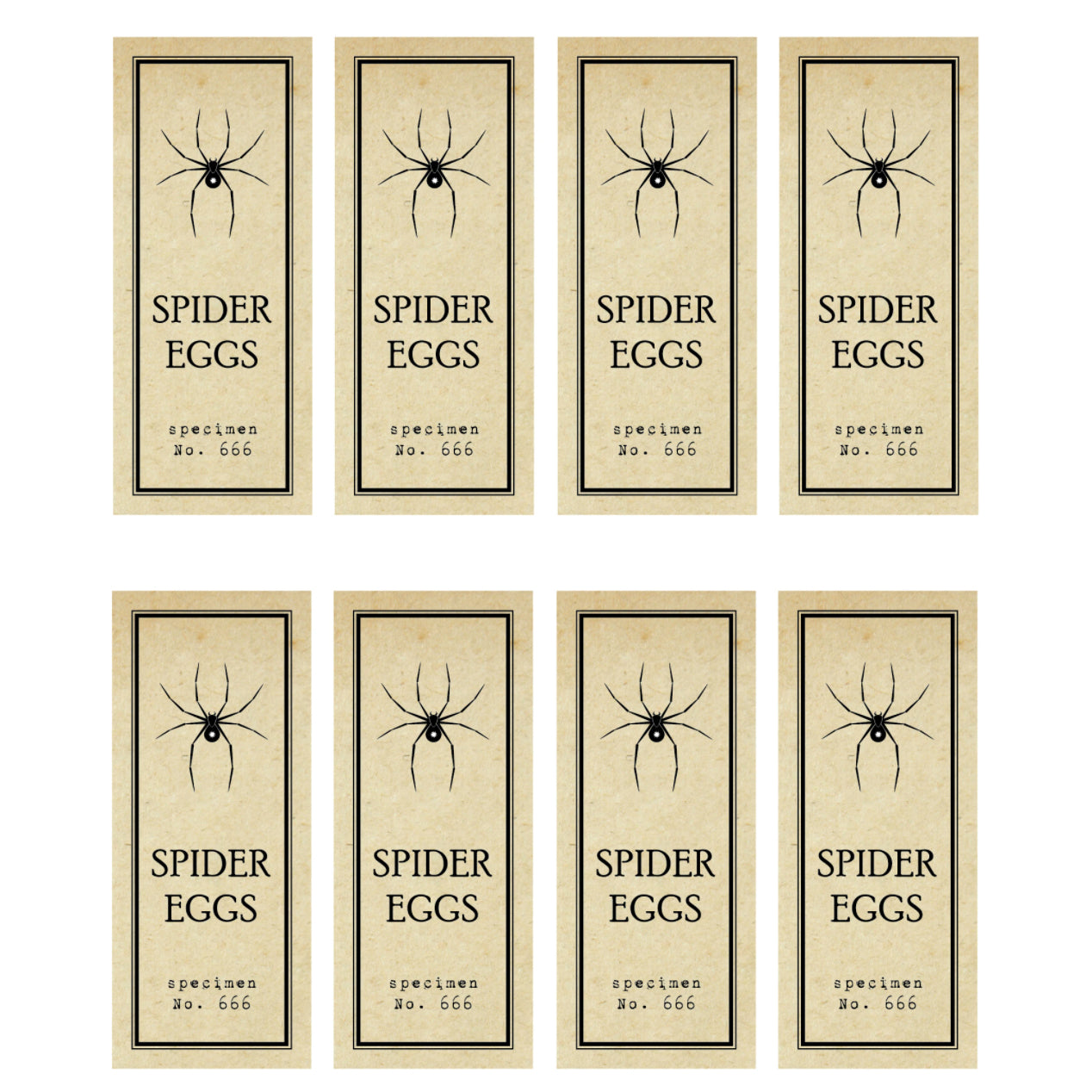 Spider Eggs Test Tube Free Printable Labels | The Party Darling