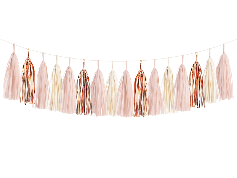 Blush Pink & Rose Gold Tassel Garland Kit | The Party Darling