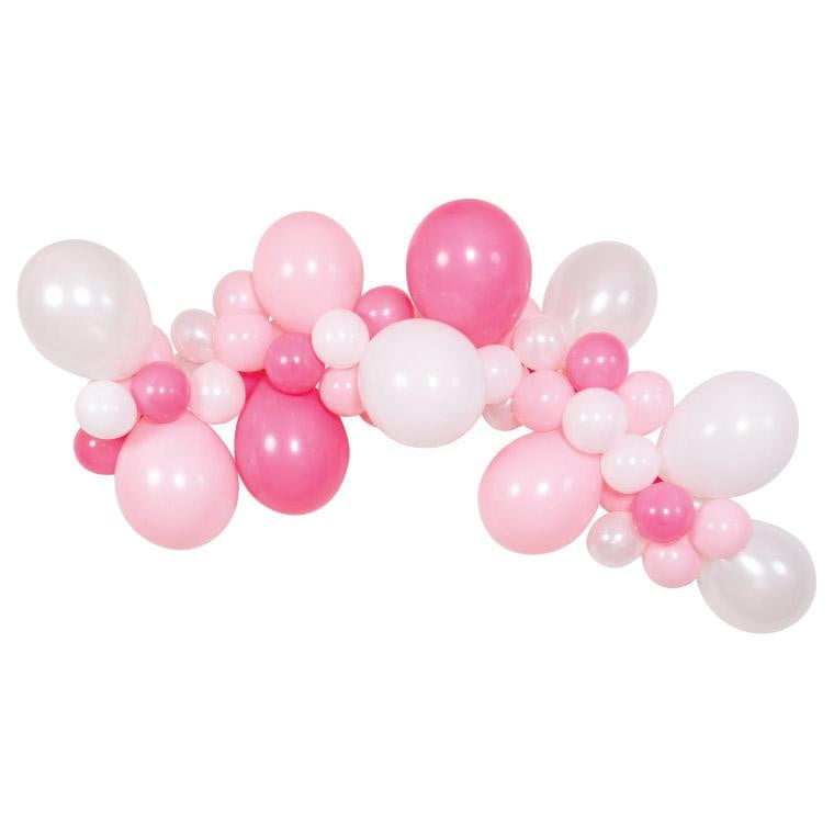 Pink & White Balloon Garland Kit