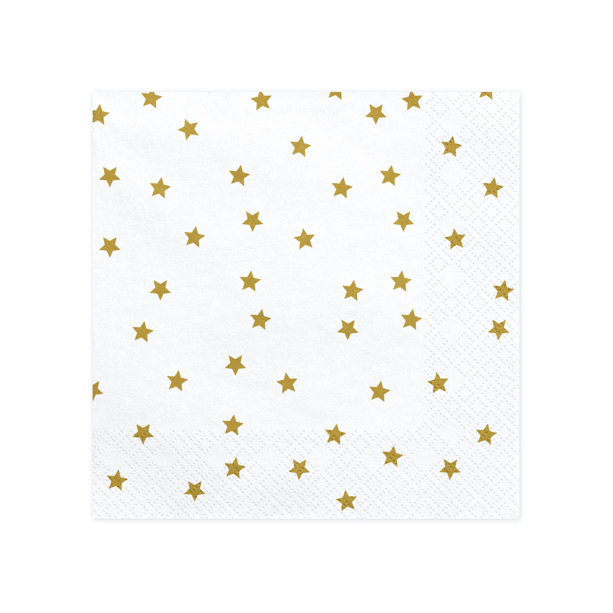 White and Gold Star Napkins
