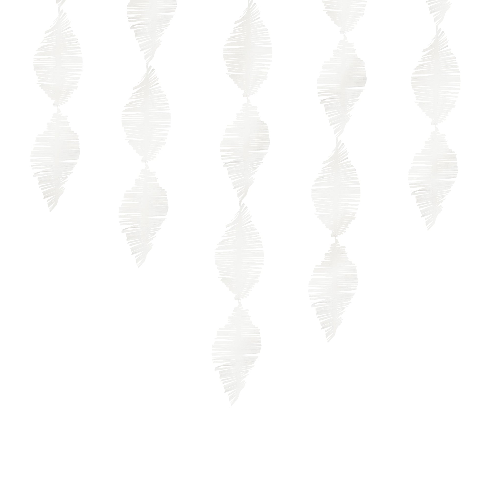 White Crepe Paper Streamer
