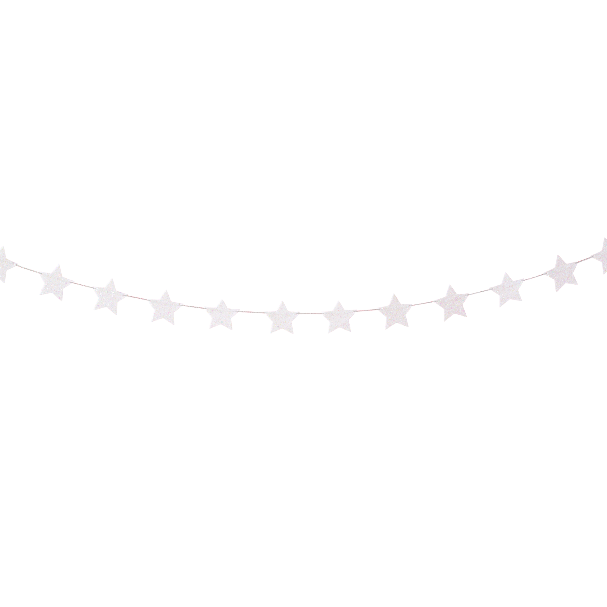 White Glitter Stars Garland | The Party Darling
