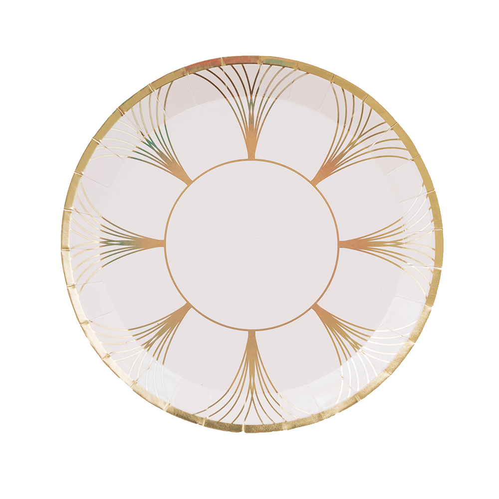 White & Gold Gatz Dessert Plates | The Party Darling