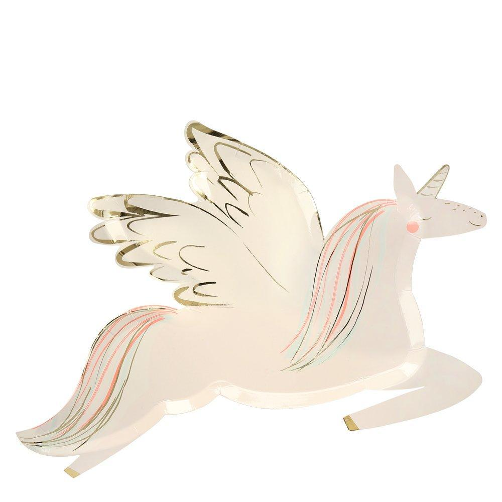 Winged Unicorn Lunch Plates