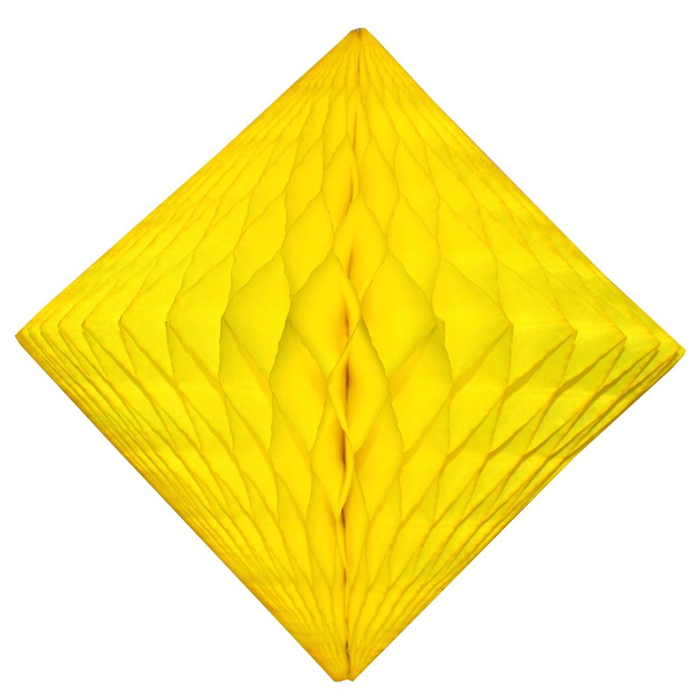 Yellow Honeycomb Diamond 12""