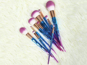 Rainbow Unicorn Brushes - 7 Piece Set
