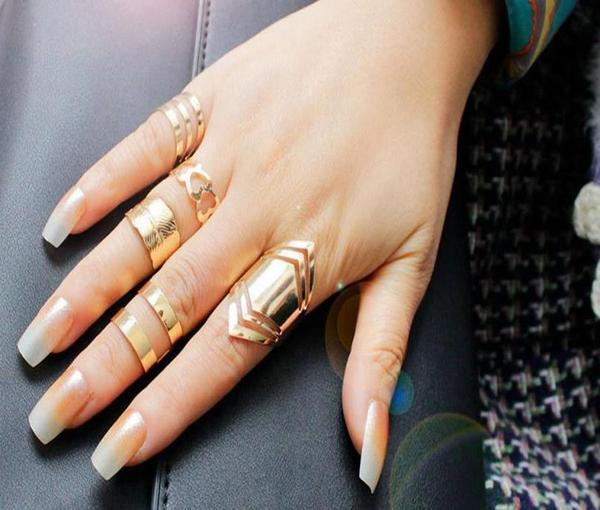 5 Piece Stack of Midi Open Rings