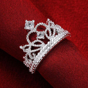 Princess-Cut Tiara Ring