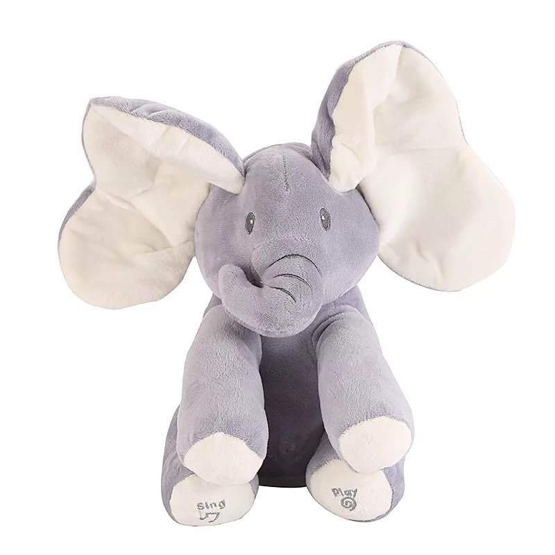 Cute Singing Elephant with Moving Ears