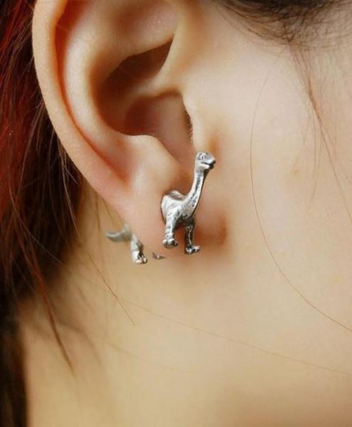 Brontosaurus Earrings