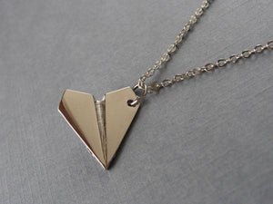Paper Airplane Necklace