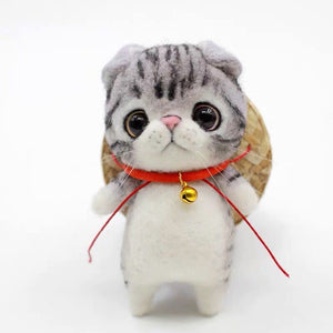 Cute Needle Felted Ktty - Handmade