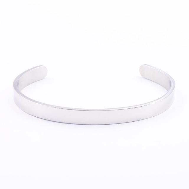 INNER ENGRAVED INSPIRATIONAL CUFF BRACELET BANGLE
