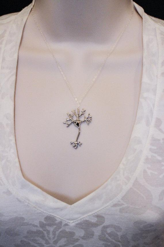 Neuron Inspired Necklace