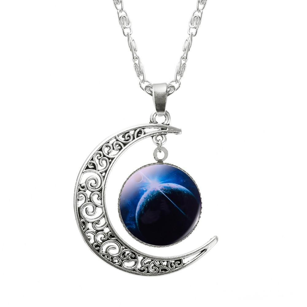Galaxy & Moon Pendant
