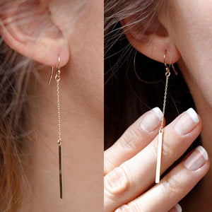 Shiny Bar Earrings