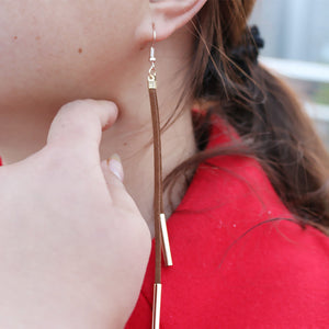 Protracted Tassel Earrings