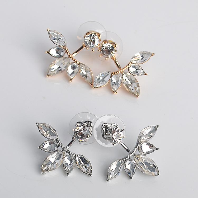 Crystal Frond Earrings