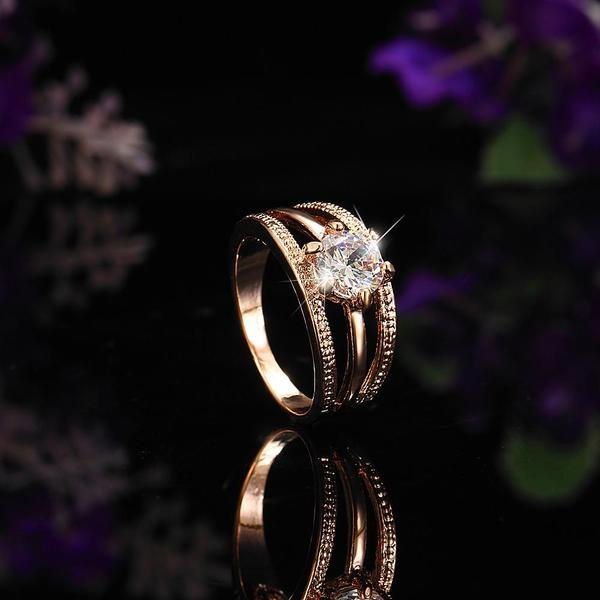 Three Strip Austrian Rhinestone Ring