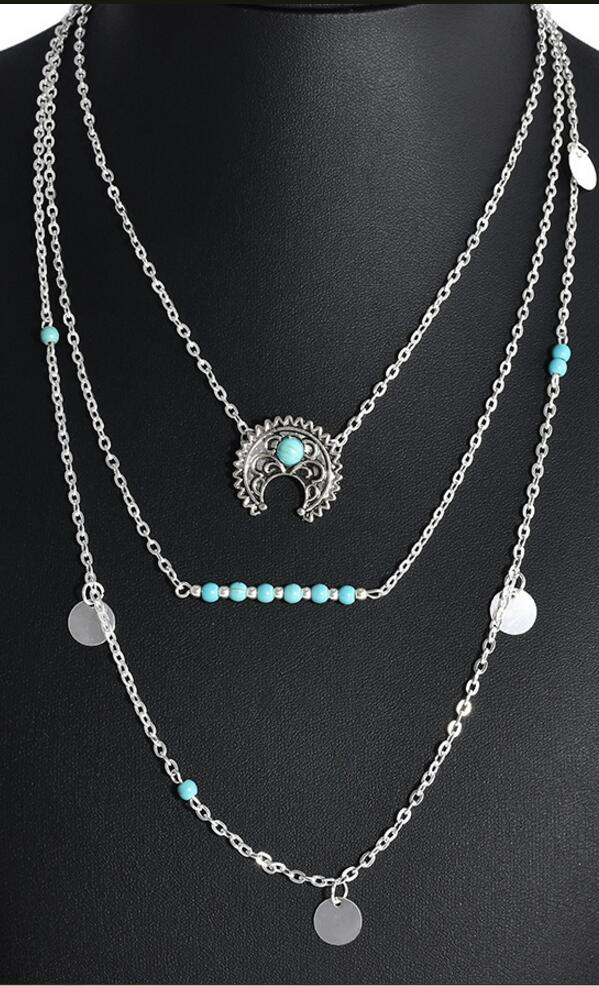 Multilayer Bohemia Ethnic Necklace
