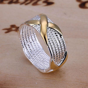 Silver Plated Wrapped Crystal Ring