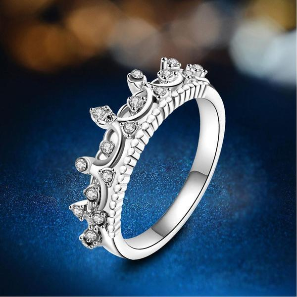 Crown Shaped Crystal Ring