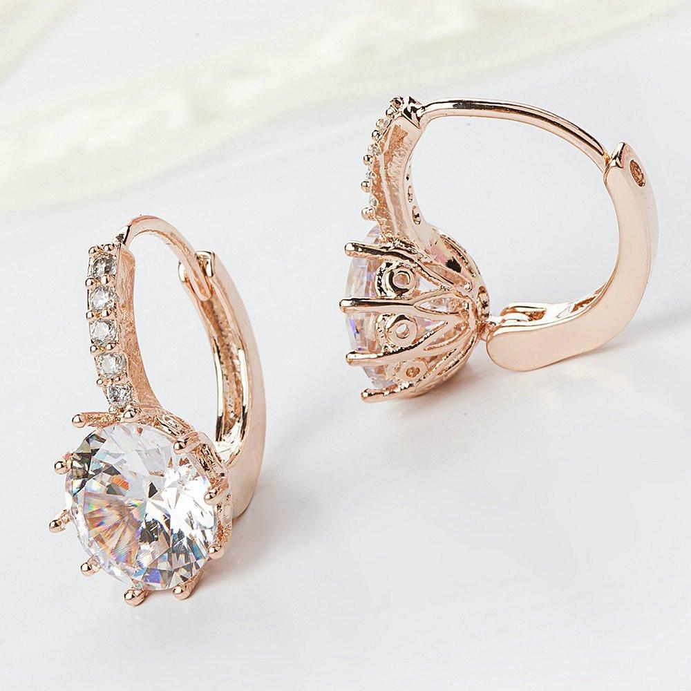 Rose Gold Cuff Clip Earrings
