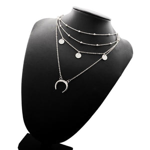 Multilayer Half Moon Necklace