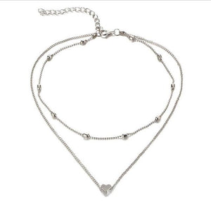 Double Tiny Heart Necklace