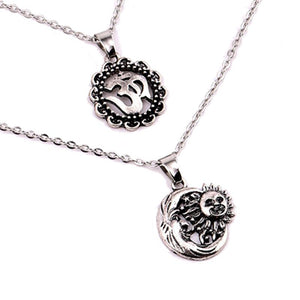 Multilayer Crescent Sun Necklace