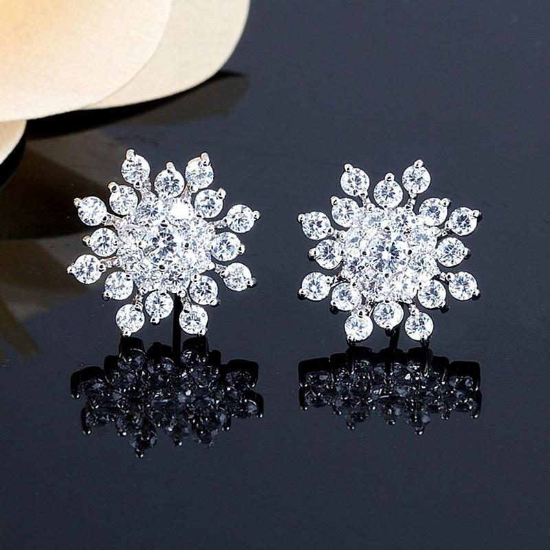 Petite Snowflake Earrings