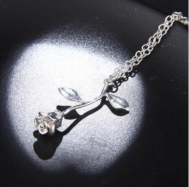 Delicate Rose Necklace