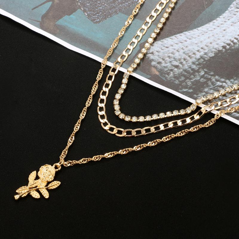 Multilayer Rose Necklace