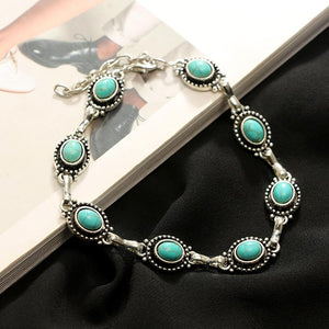 Turquoise Lantern Anklet