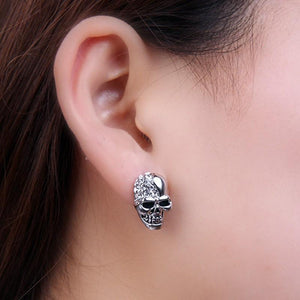 Silver Skull Earrings