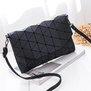 Abstract Geometric Matte Shoulder Bag