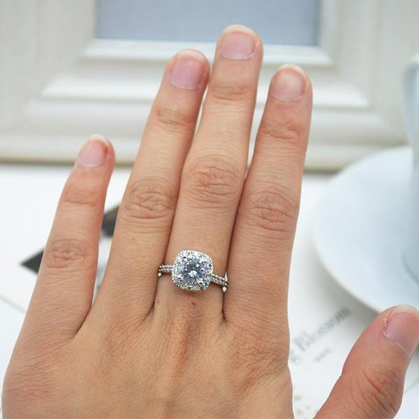 Cushion-Cut Queen Ring