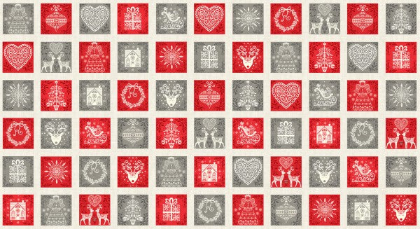 Scandi christmas de Makower fabric