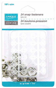 Boutons pressions à coudre en nylon transparent Unique