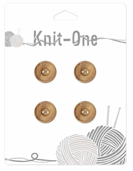 Bouton de bois Knit-One