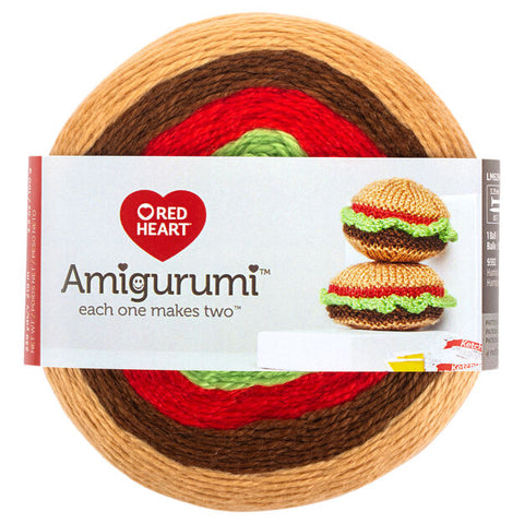 Amigurumi burger de Red Heart