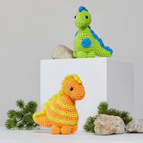 Amigurumi dino de Red Heart