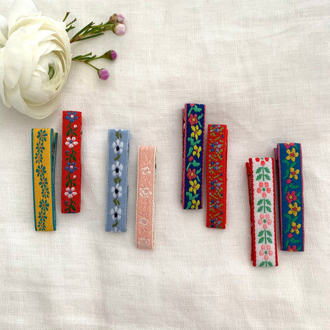 Embroidered Ribbon Bar Clips