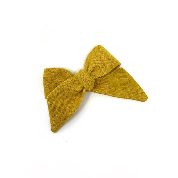 Baby Tied Bow, Mustard