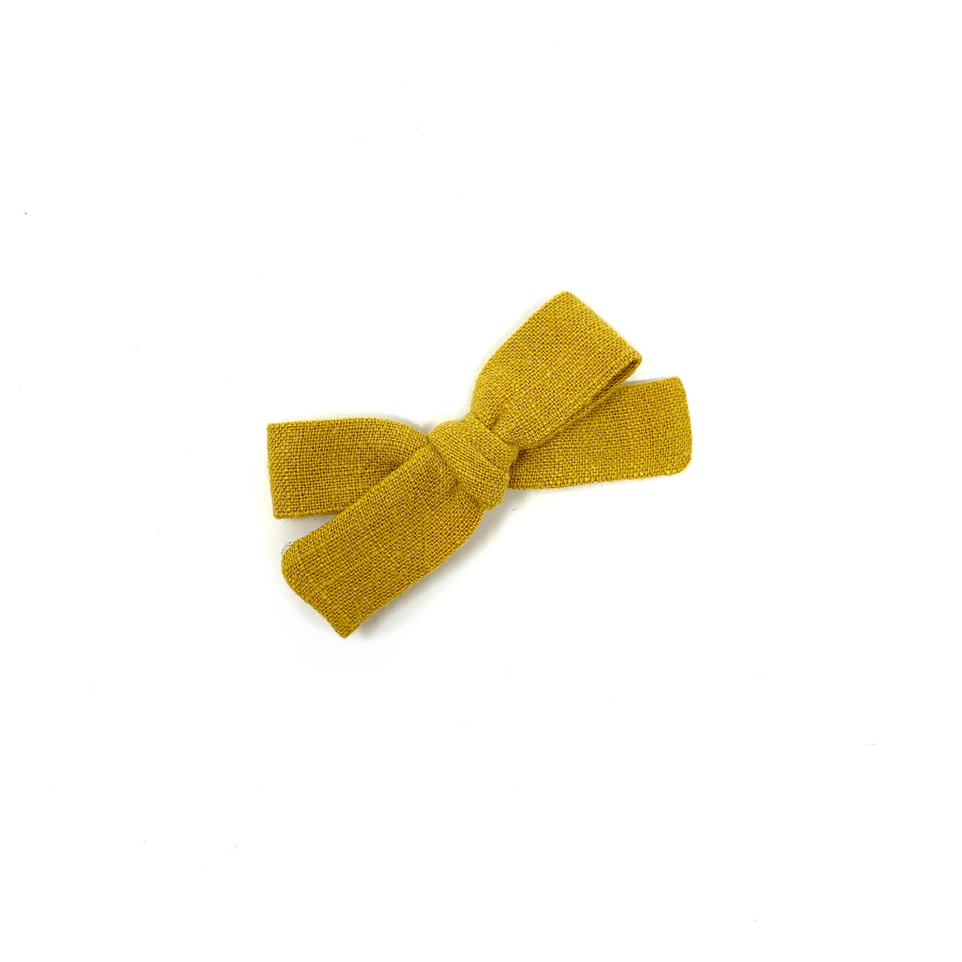 Skinny Ribbon Bow, Mustard