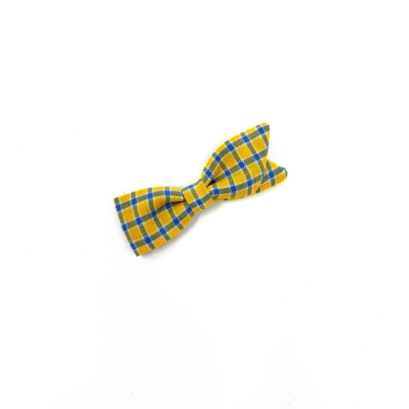 Petal Bow, Yellow Plaid