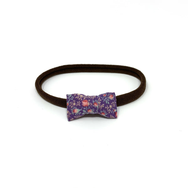 Itty Bitty Bow, Purple Florals