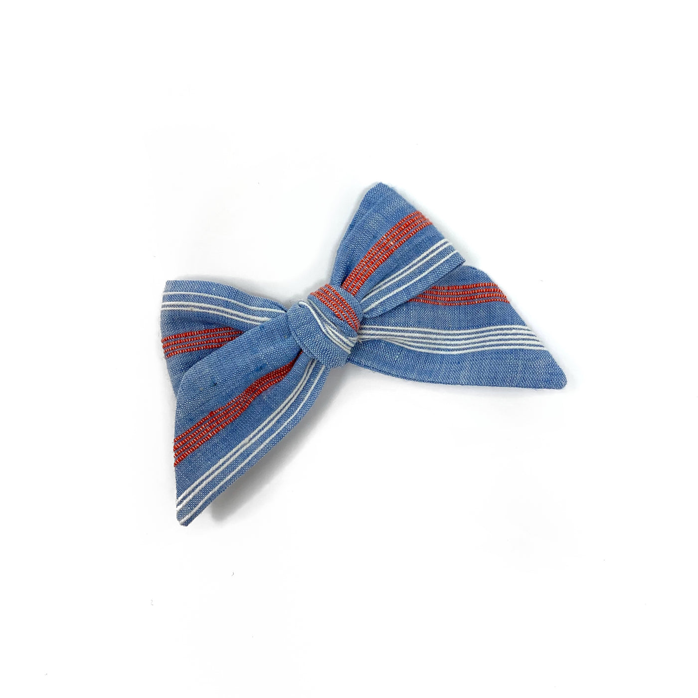 Baby Tied Bow, Blue Stripe