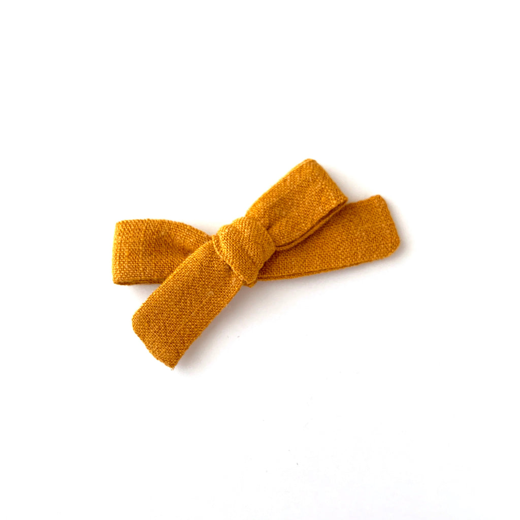 Skinny Ribbon Bow, Gold