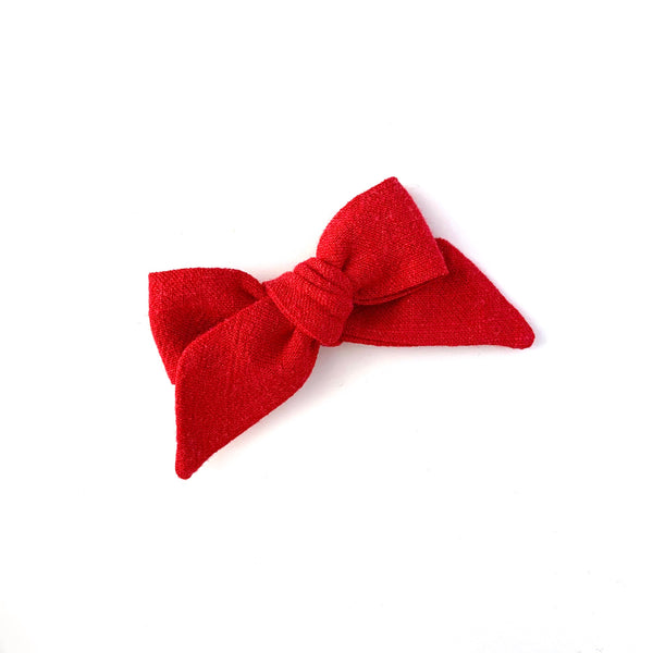 Baby Tied Bow, Red